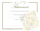 Certificate Of Achievement Template - Yellow
