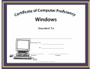 Windows Computer Proficiency Certificate