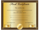 Common Stock Owner Certificate Template