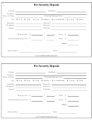Pet Security Deposit Form