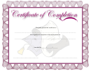 Lilac Certificate Of Completion Template