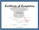 Navy Certificate Of Completion Template