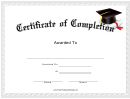 Course Certificate Of Completion Template