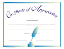 Appreciation Certificate Template