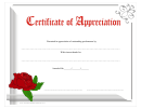Rose Appreciation Certificate Template