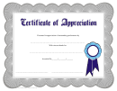 Silver Appreciation Certificate Template