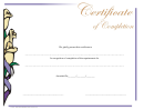 Completion Certificate Template - Flower