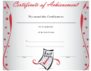 Exit Exam Certificate Of Completion Template
