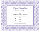 Lilac Project Completion Award