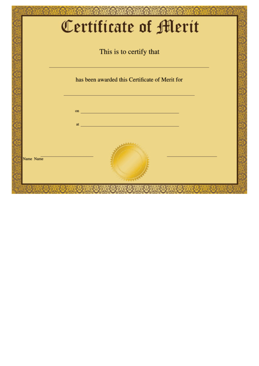 top 8 certificate of merit templates free to download in
