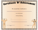 Body Building Award Certificate