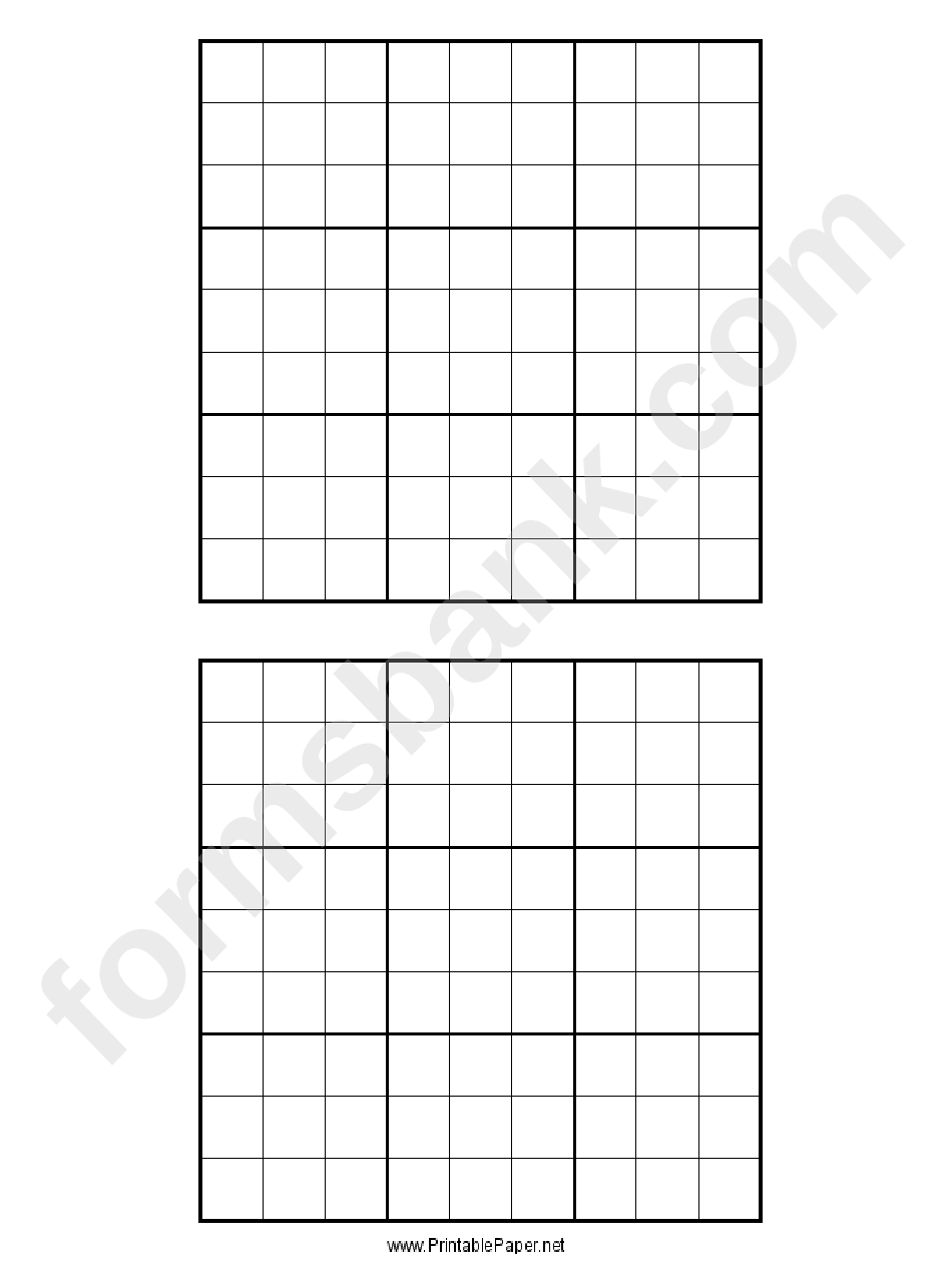 graphic about Sudoku Printable Grid identify Sudoku Grid Template printable pdf obtain