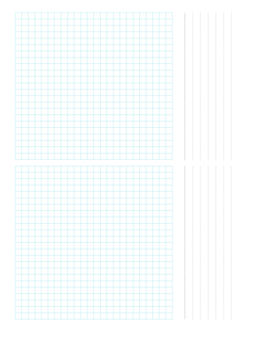 2-Up Grid Paper Template Printable pdf