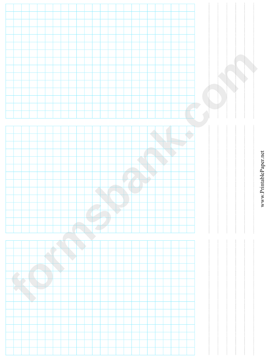 3-Up Grid Paper Template