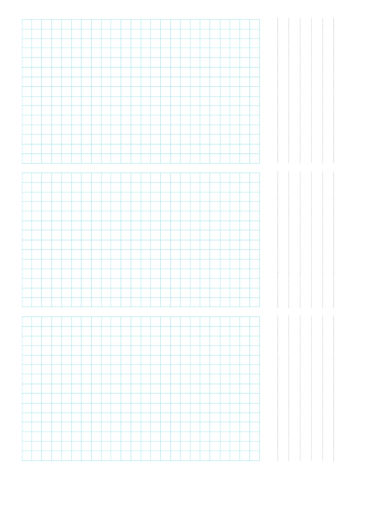 3-Up Grid Paper Template Printable pdf