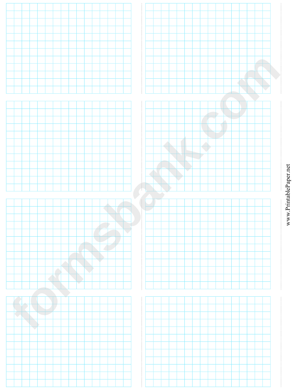 8-Up Grid Paper Template