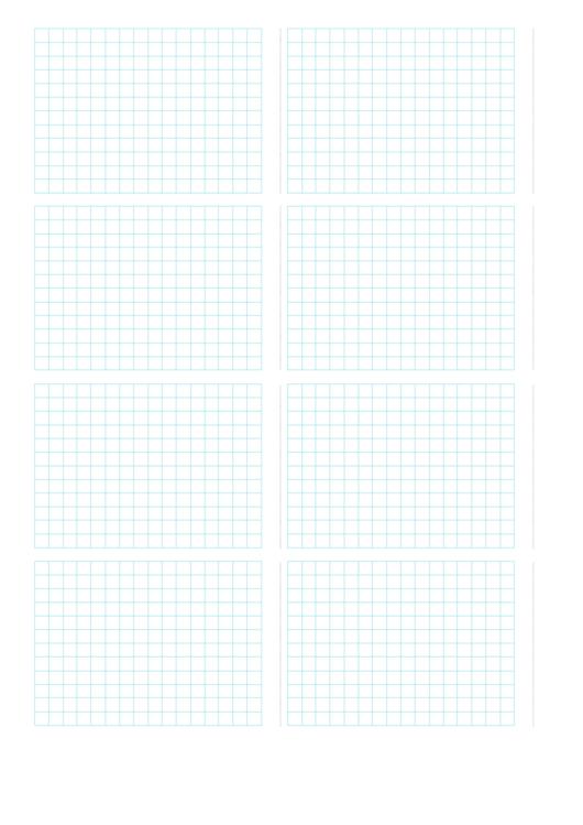 8-Up Grid Paper Template Printable pdf