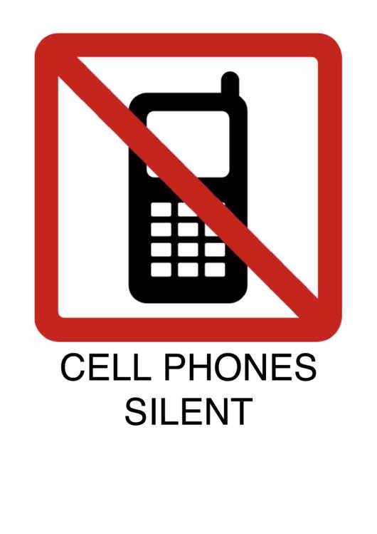 Cell Phones Silent Printable pdf