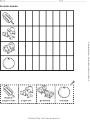 Favorite Snacks Activity Sheet
