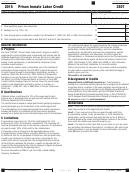 Form 3507 - California Prison Inmate Labor Credit - 2015