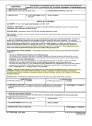Dd Form 2842 - Certificate Of Acceptance And Acknowledgement Of Responsibilities Form