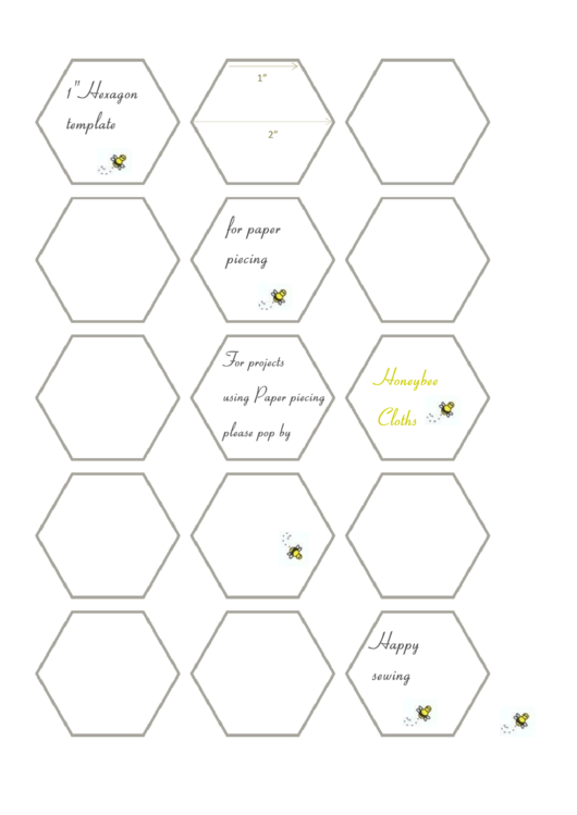 picture relating to Printable Hexagon Template named 66 Inch Hexagon Template Printable Prices of the Working day