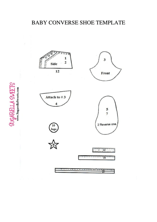 Baby Converse Shoe Template printable pdf download