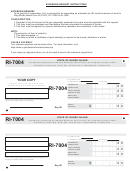 Form Ri-7004 - Automatic Six Month Extension Request For Ri-1120c, Ri-1120s And Ri-1065 Filers