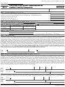 Form 8453-llc - California E-file Return Authorization For Limited Liability Companies - 2014