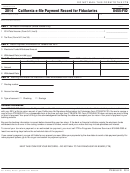 Form 8455-fid - California E-file Payment Record For Fiduciaries - 2014