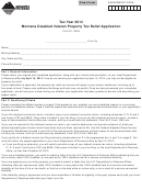 Montana Disabled Veteran Property Tax Relief Application - 2014