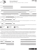 Form Dtf-350 - Group Affidavit