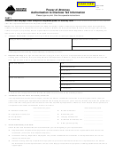Form Poa - Power Of Attorney, Authorization To Disclose Tax Information