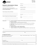 Form Rac1 - Request For Administrative Change