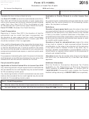 Form Ct-1120dl - Donation Of Land Tax Credit - 2015