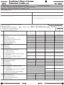 California Schedule K-1 (541) - Beneficiary's Share Of Income, Deductions, Credits, Etc. - 2015