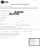 Form Pasca - Passenger Carrier License Application