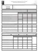 Form F-2220 - Underpayment Of Estimated Tax On Florida Corporate Income/franchise Tax