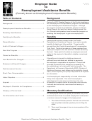 Form Rt-800001 - Employer Guide To Reemployment Assistance Benefits