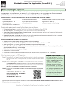 Instructions For Form Dr-1 - Florida Business Tax Application