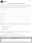 Liquor Licensing File/information Request - Montana Department Of Revenue