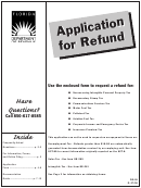 Form Dr-26 - Application For Refund