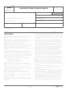 Form 8935-t - Transmittal Of Airline Payments Reports - 2009