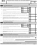 Form 8810 - Corporate Passive Activity Loss And Credit Limitations - 2015