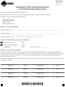 Form Montana Aablcat - Application To Add Catering Endorsement To All-alcoholic Beverages License