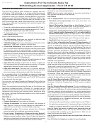 Form Cr 0101 - Instructions For The Colorado Sales Tax Withholding Account Application - 2013