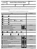 Form 6729-p - Partner Return Review Sheet