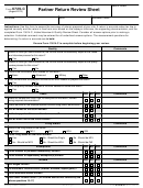 Form 6729-c - Partner Return Review Sheet