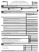Form 5500-ez - Annual Return Of One-participant (owners And Their Spouses) Retirement Plan - 2015