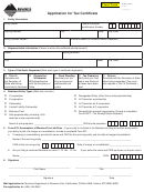 Form Cr-t - Application For Tax Certifi Cate